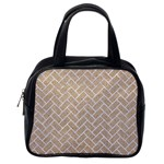 BRICK2 WHITE MARBLE & SAND Classic Handbags (One Side) Front