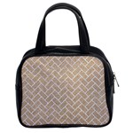 BRICK2 WHITE MARBLE & SAND Classic Handbags (2 Sides) Front