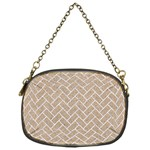 BRICK2 WHITE MARBLE & SAND Chain Purses (One Side)  Front