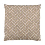 BRICK2 WHITE MARBLE & SAND Standard Cushion Case (One Side) Front