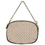 BRICK2 WHITE MARBLE & SAND Chain Purses (Two Sides)  Front