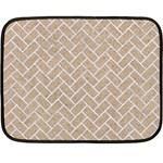 BRICK2 WHITE MARBLE & SAND Double Sided Fleece Blanket (Mini)  35 x27 Blanket Back