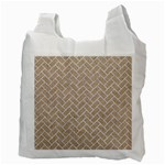 BRICK2 WHITE MARBLE & SAND Recycle Bag (Two Side)  Back