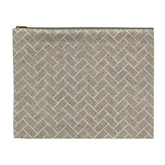 Brick2 White Marble & Sand Cosmetic Bag (xl)