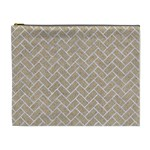BRICK2 WHITE MARBLE & SAND Cosmetic Bag (XL) Front