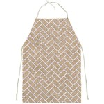 BRICK2 WHITE MARBLE & SAND Full Print Aprons Front