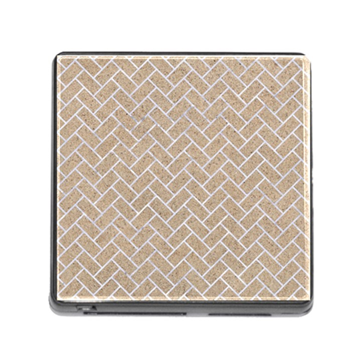 BRICK2 WHITE MARBLE & SAND Memory Card Reader (Square)