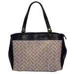 BRICK2 WHITE MARBLE & SAND Office Handbags Front