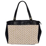 BRICK2 WHITE MARBLE & SAND Office Handbags (2 Sides)  Front