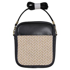 Brick2 White Marble & Sand Girls Sling Bags