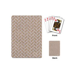 Brick2 White Marble & Sand Playing Cards (mini)