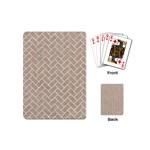 BRICK2 WHITE MARBLE & SAND Playing Cards (Mini)  Back