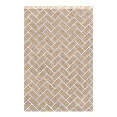Brick2 White Marble & Sand Shower Curtain 48  X 72  (small)