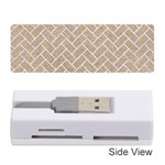 BRICK2 WHITE MARBLE & SAND Memory Card Reader (Stick)  Front