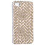 BRICK2 WHITE MARBLE & SAND Apple iPhone 4/4s Seamless Case (White) Front