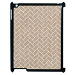 BRICK2 WHITE MARBLE & SAND Apple iPad 2 Case (Black) Front