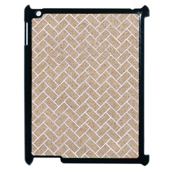 BRICK2 WHITE MARBLE & SAND Apple iPad 2 Case (Black)