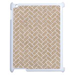 BRICK2 WHITE MARBLE & SAND Apple iPad 2 Case (White) Front