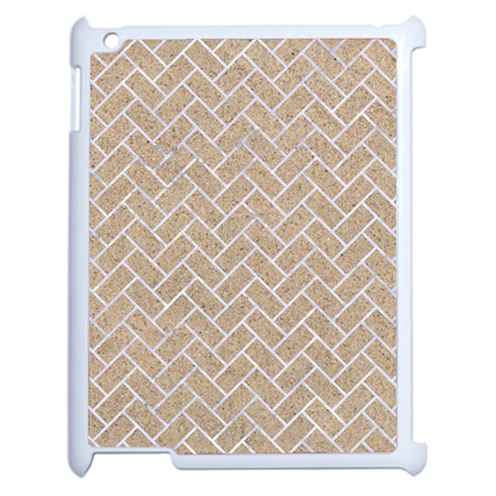 BRICK2 WHITE MARBLE & SAND Apple iPad 2 Case (White)