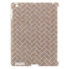 Brick2 White Marble & Sand Apple Ipad 3/4 Hardshell Case (compatible With Smart Cover)
