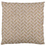 BRICK2 WHITE MARBLE & SAND Large Cushion Case (One Side) Front