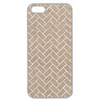 BRICK2 WHITE MARBLE & SAND Apple Seamless iPhone 5 Case (Clear) Front