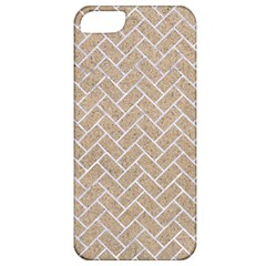 Brick2 White Marble & Sand Apple Iphone 5 Classic Hardshell Case