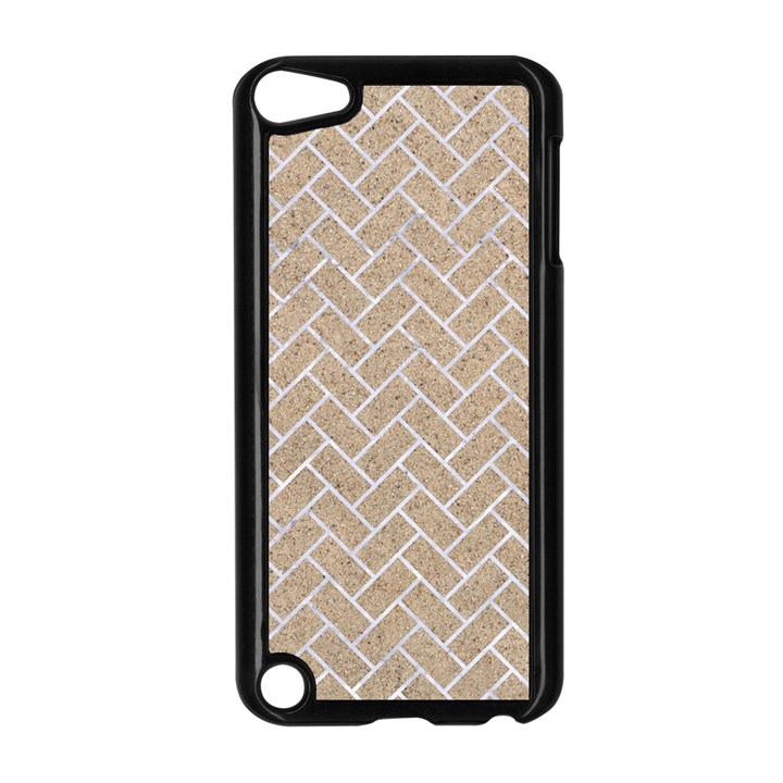 BRICK2 WHITE MARBLE & SAND Apple iPod Touch 5 Case (Black)
