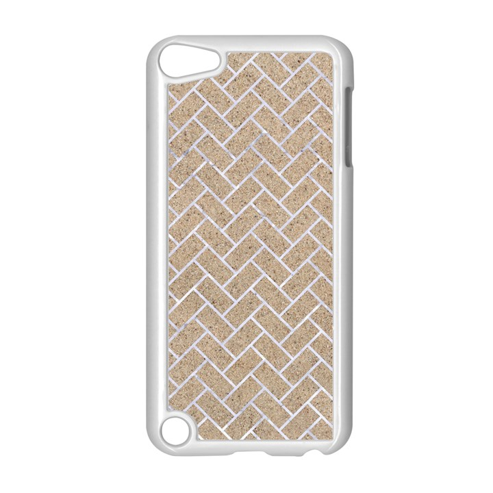 BRICK2 WHITE MARBLE & SAND Apple iPod Touch 5 Case (White)