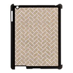 BRICK2 WHITE MARBLE & SAND Apple iPad 3/4 Case (Black) Front