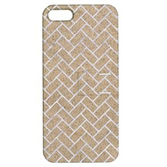 Brick2 White Marble & Sand Apple Iphone 5 Hardshell Case With Stand