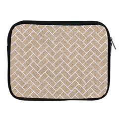Brick2 White Marble & Sand Apple Ipad 2/3/4 Zipper Cases
