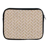 BRICK2 WHITE MARBLE & SAND Apple iPad 2/3/4 Zipper Cases Front