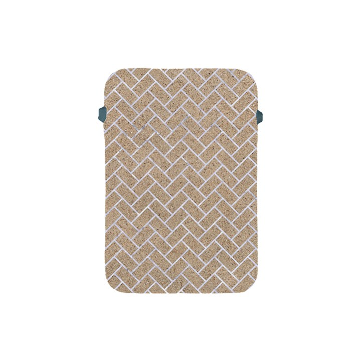 BRICK2 WHITE MARBLE & SAND Apple iPad Mini Protective Soft Cases