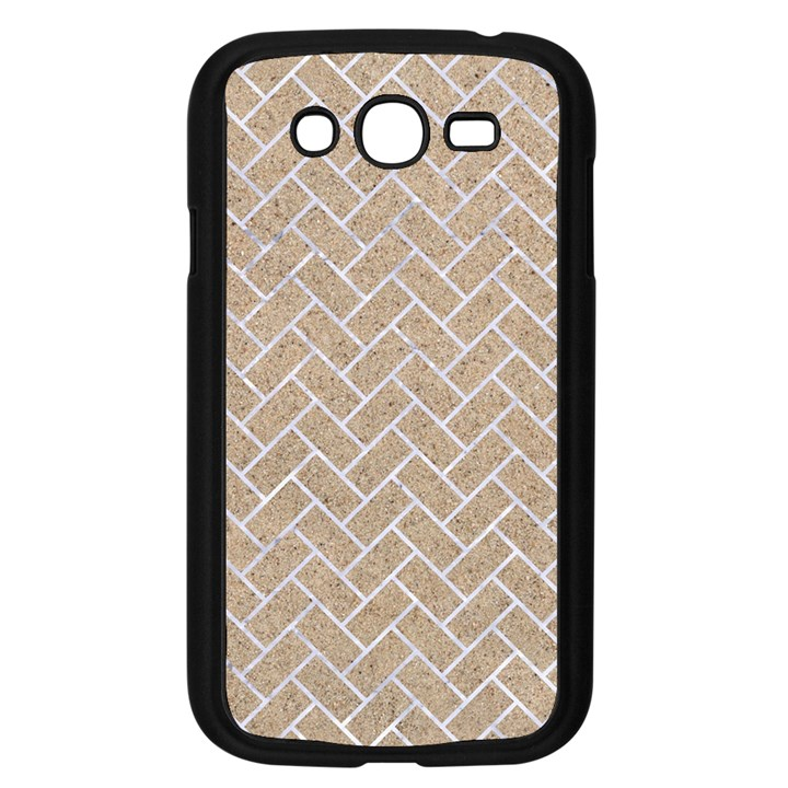 BRICK2 WHITE MARBLE & SAND Samsung Galaxy Grand DUOS I9082 Case (Black)