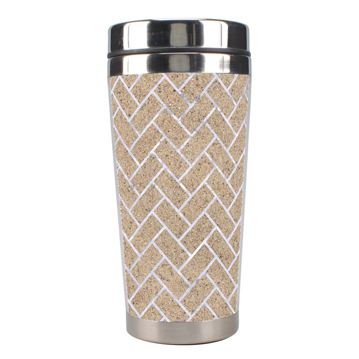 BRICK2 WHITE MARBLE & SAND Stainless Steel Travel Tumblers
