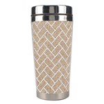 BRICK2 WHITE MARBLE & SAND Stainless Steel Travel Tumblers Right