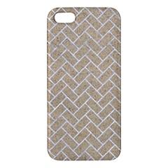 Brick2 White Marble & Sand Iphone 5s/ Se Premium Hardshell Case