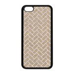 BRICK2 WHITE MARBLE & SAND Apple iPhone 5C Seamless Case (Black) Front