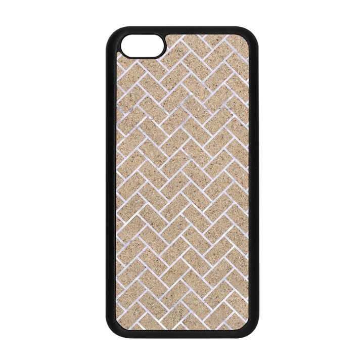 BRICK2 WHITE MARBLE & SAND Apple iPhone 5C Seamless Case (Black)