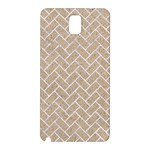 BRICK2 WHITE MARBLE & SAND Samsung Galaxy Note 3 N9005 Hardshell Back Case Front