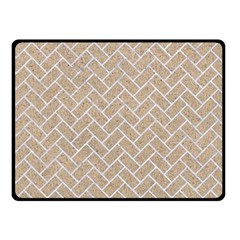 Brick2 White Marble & Sand Double Sided Fleece Blanket (small)