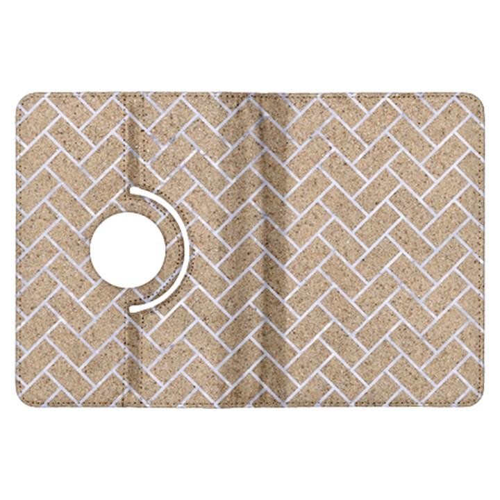 BRICK2 WHITE MARBLE & SAND Kindle Fire HDX Flip 360 Case
