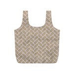 BRICK2 WHITE MARBLE & SAND Full Print Recycle Bags (S)  Front