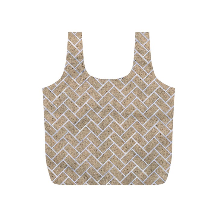 BRICK2 WHITE MARBLE & SAND Full Print Recycle Bags (S)