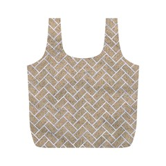 Brick2 White Marble & Sand Full Print Recycle Bags (m)