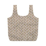 BRICK2 WHITE MARBLE & SAND Full Print Recycle Bags (M)  Front