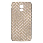 BRICK2 WHITE MARBLE & SAND Samsung Galaxy S5 Back Case (White) Front