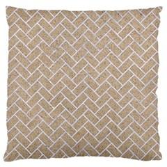 Brick2 White Marble & Sand Large Flano Cushion Case (one Side)