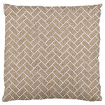 BRICK2 WHITE MARBLE & SAND Large Flano Cushion Case (Two Sides) Front